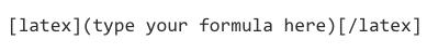Screenshot showing LaTeX syntax in Pressbooks